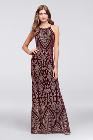 Topped with a tapestry-inspired glitter motif, this slinky, high ...