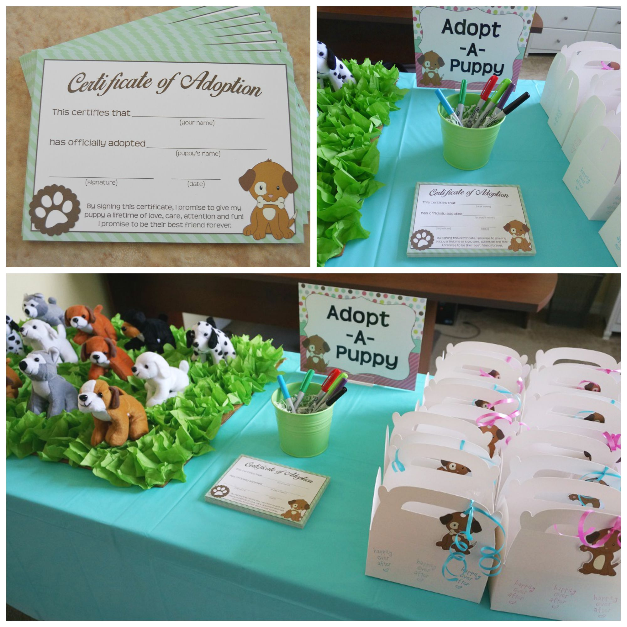 Puppy adoption adopt a puppy puppy party ideas httpsetsy puppy party adoption certificates by makeasceneprintables xflitez Gallery