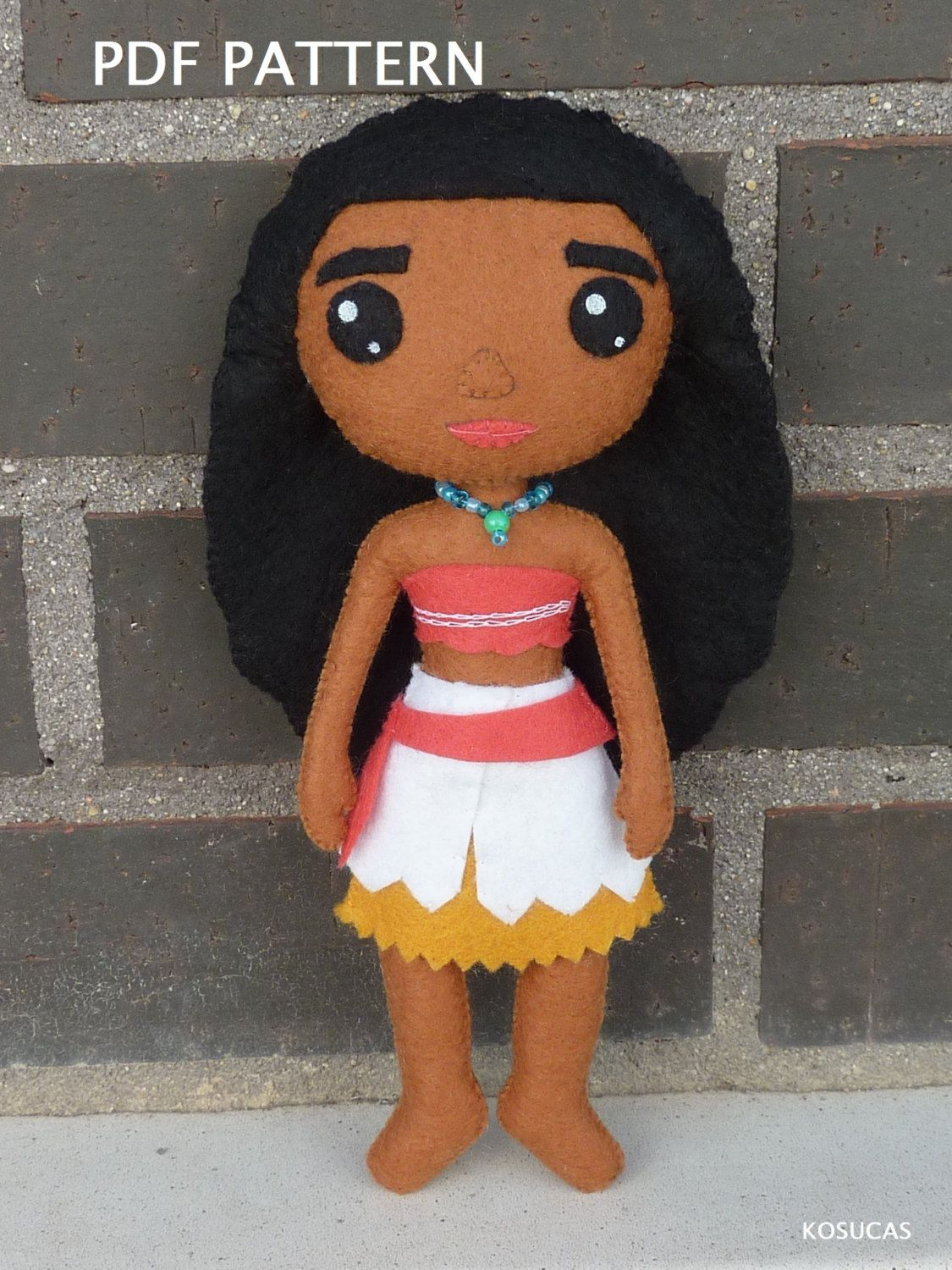 PDF pattern to make a doll inspired in Moana (Vaiana) | Pinterest ...