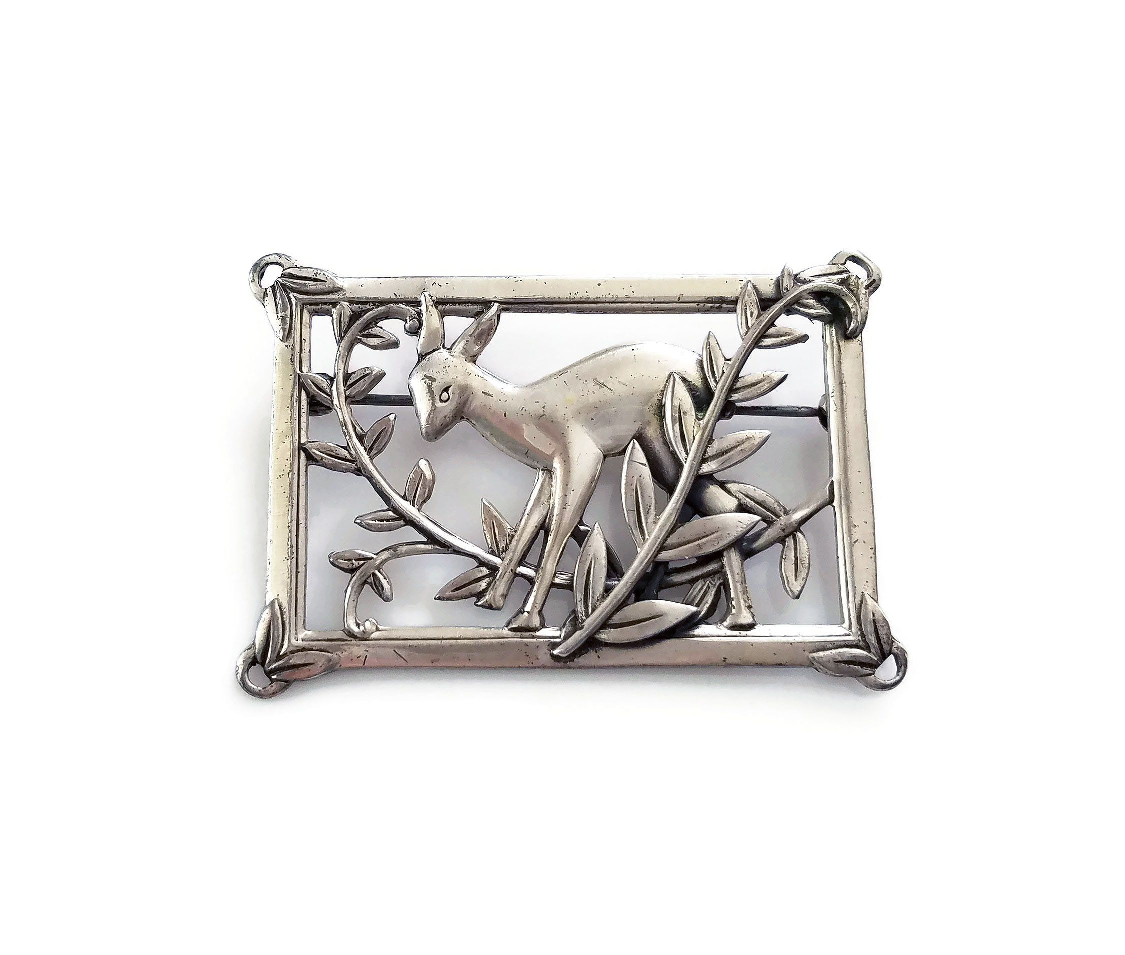 pin brooches by deer brooch jewellery broochaholic pinterest