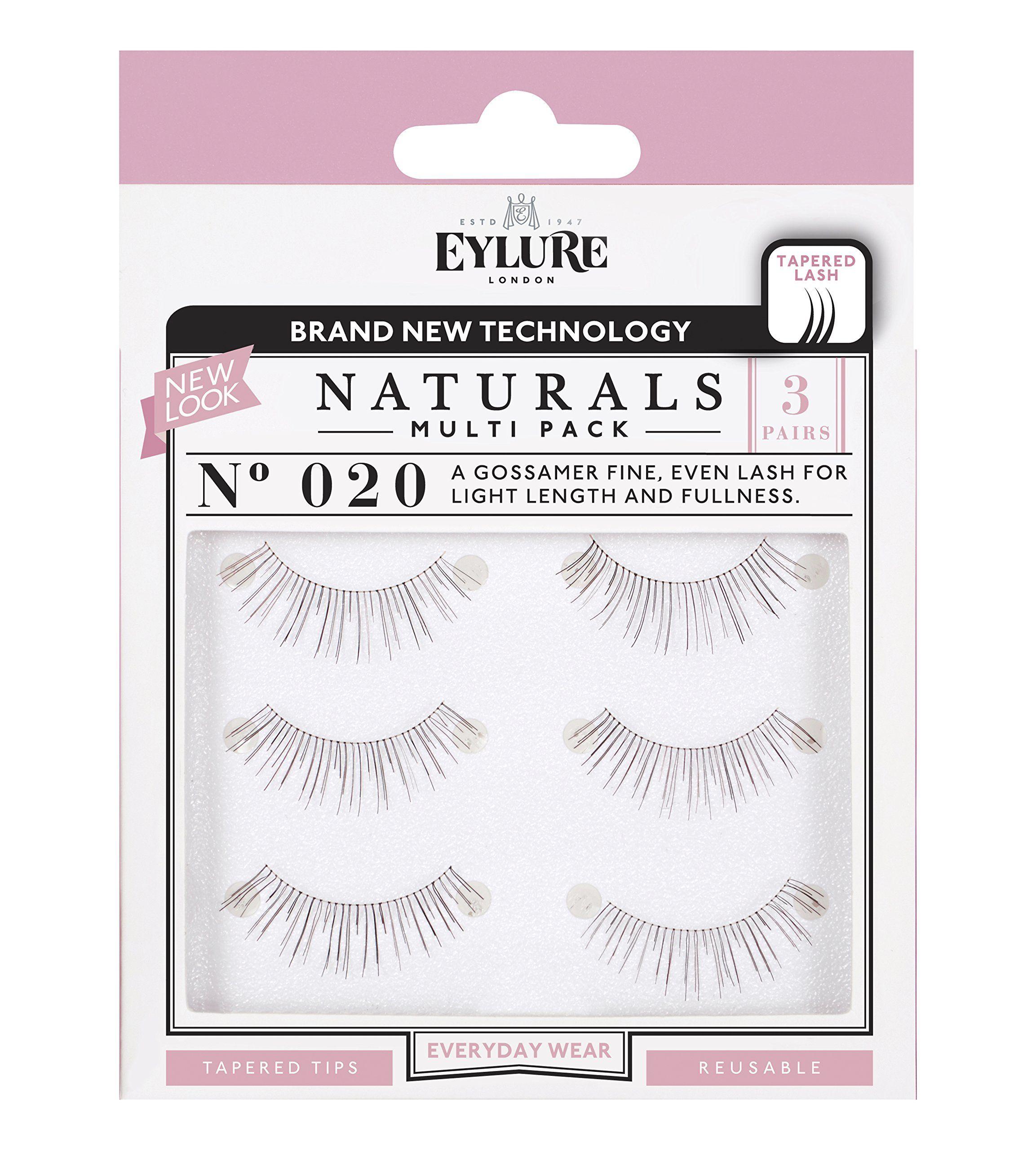 d4663565489 Multi Pack- 3 Pairs) Eylure Naturalites #020 False Eyelashes, Black ...