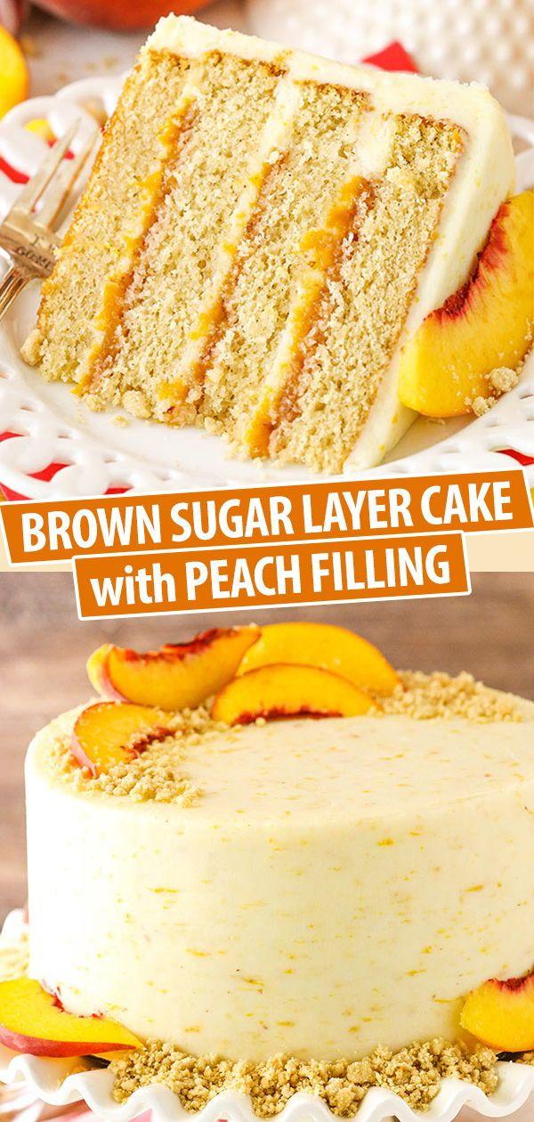 Brown Sugar Layer Cake with Peach Filling Recipe