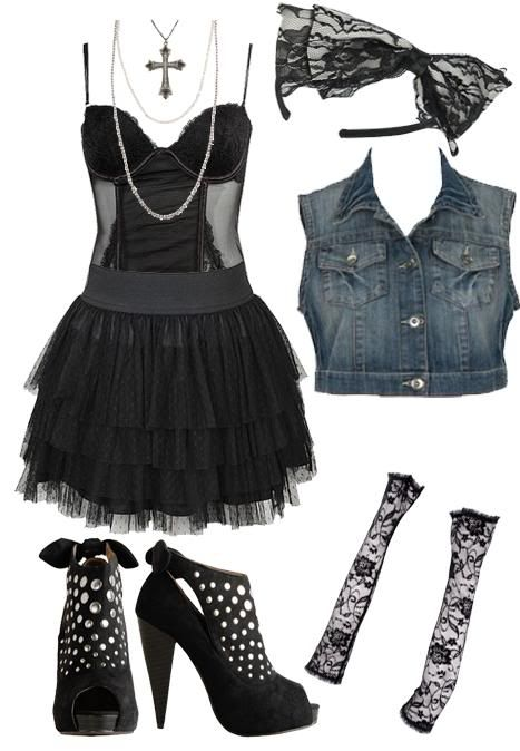 459709b444 Affordable Fashion Tips, Celebrity Looks for Less: The Savvy Stylist:  Old-School Madonna Halloween Costume