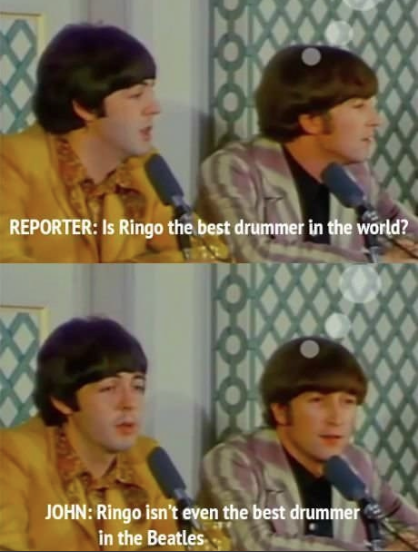 the beatles were three musical geniuses and a pretty good drummer - Google Search