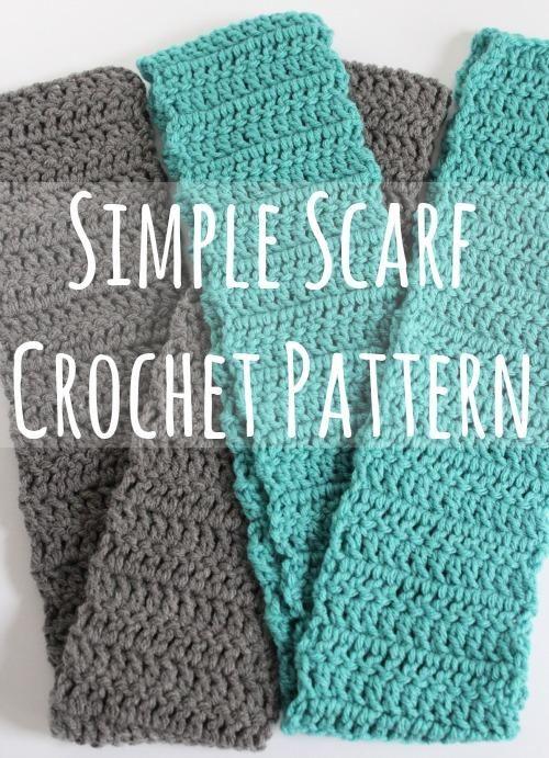 Simple Scarf Crochet Pattern + Video | Tejido, Ganchillo y Gorros