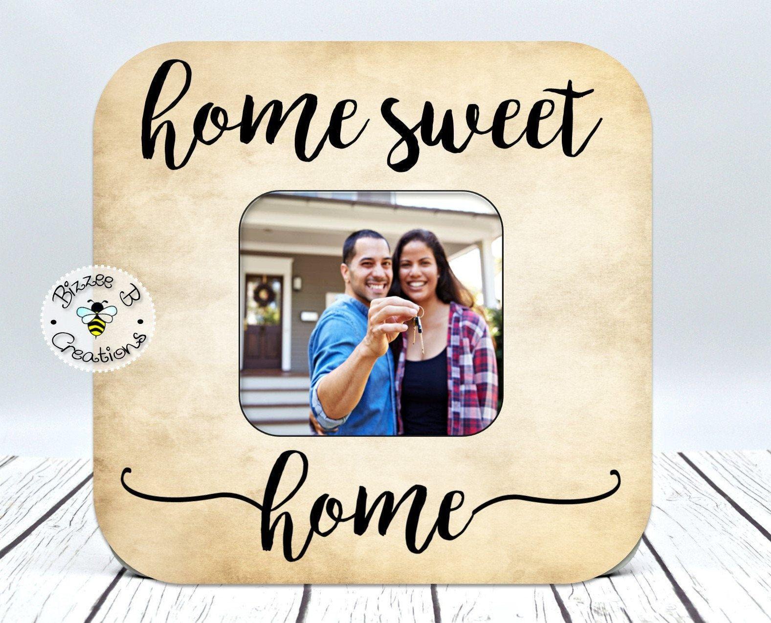 Housewarming gift home sweet home sign realtor closing