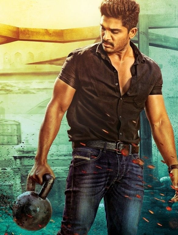 stunning look of allu arjun sarainodu movie first look allu