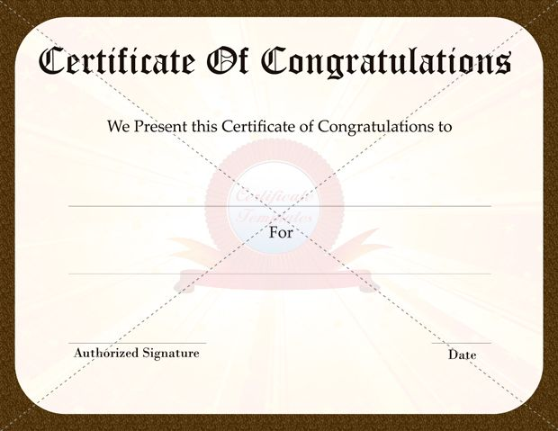 Congratulation certificate templates certificate template congratulation certificate templates certificate template pinterest certificate and template yelopaper Image collections