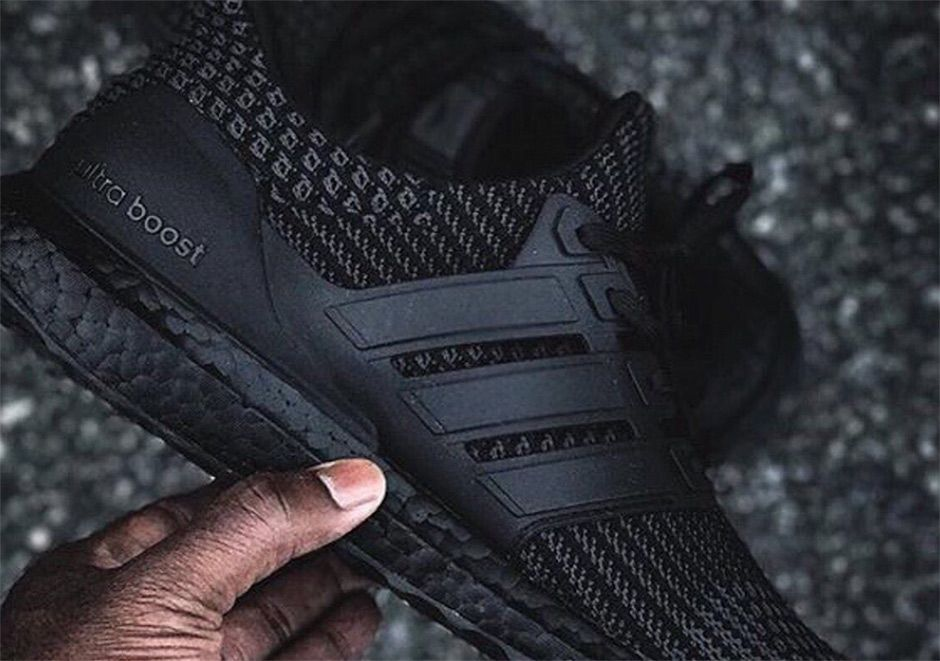 747d5508563 The adidas Ultra Boost 4.0 Triple Black will release Winter 2017 or Spring  2018 featuring new Primeknit patterns in all black. More details here