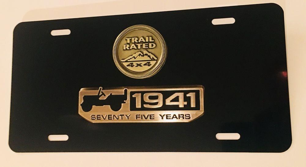 3d Custom Metal 75 Years Wrangler Jeep Black License Plate Free Shipping Custom Metal Jeep Wrangler License Plate