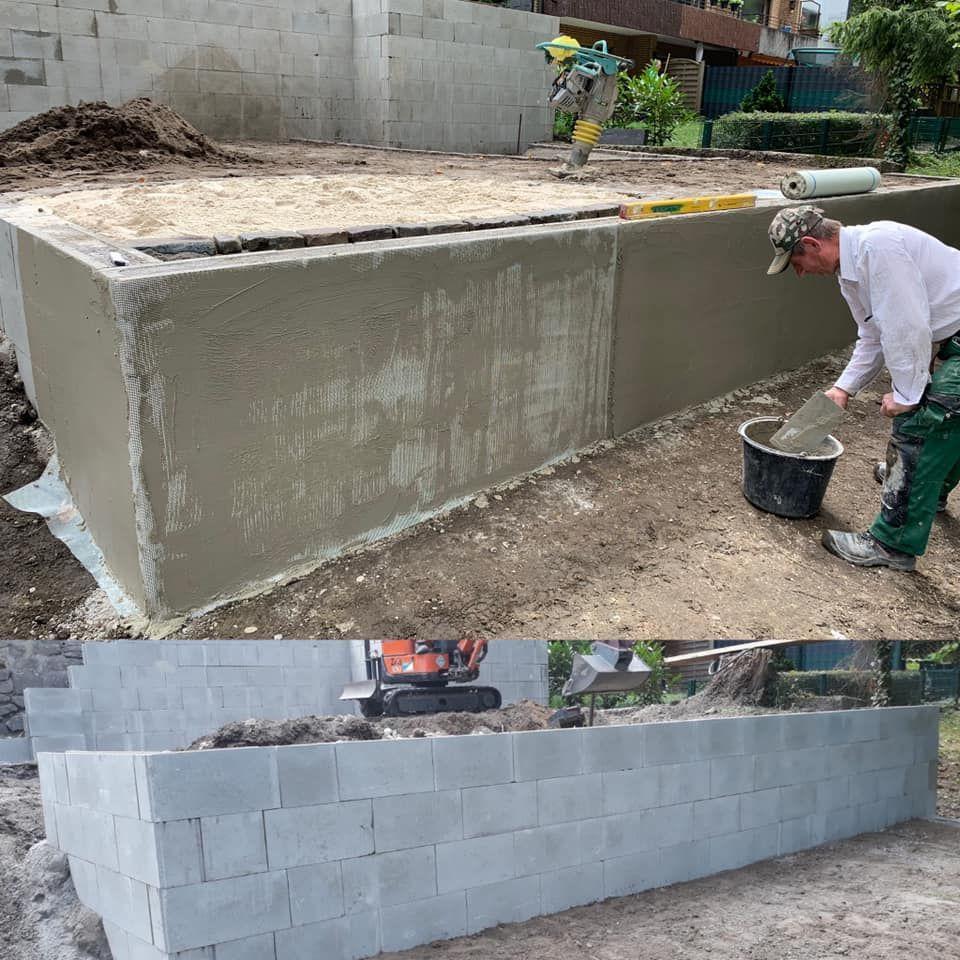 Mauerwerk Mauer Verputzen Gartenebenen Gartenbau