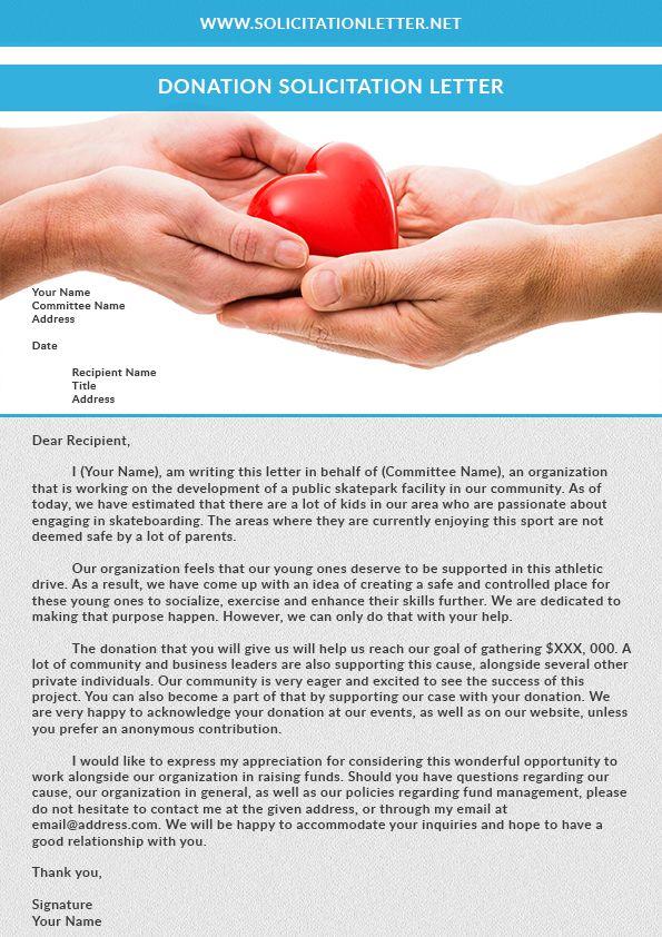 donation solicitation letter solicitationletter Lettering