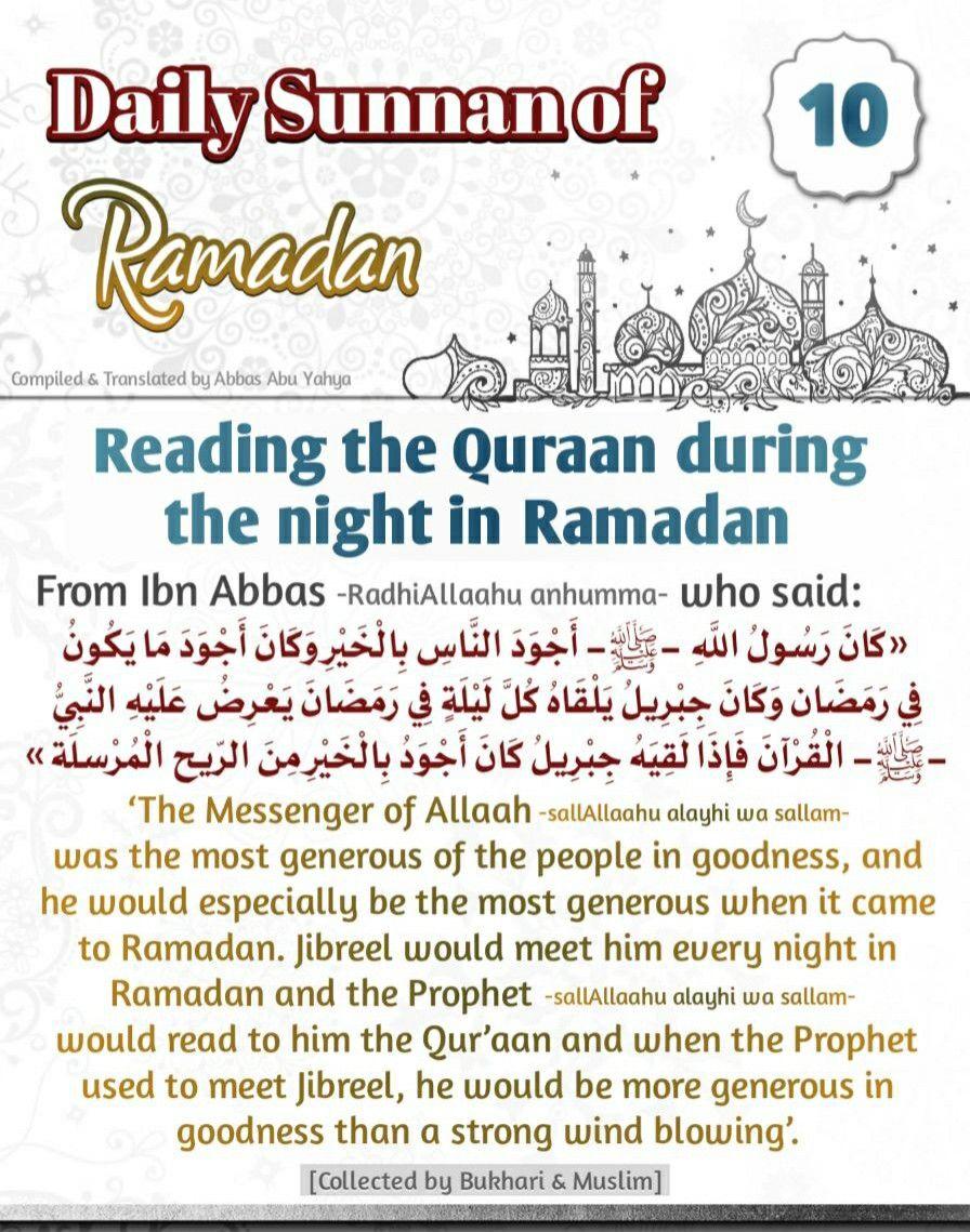 Daily Sunan Of Ramadan In 2021 Ramadan Ramadan Kareem Sayings