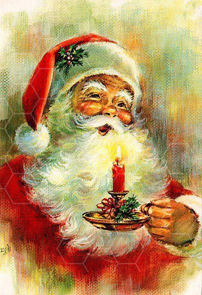 Pere Noel Ancien Vintage christmas | Cartes de noël vintage, Image noel, Noël vintage