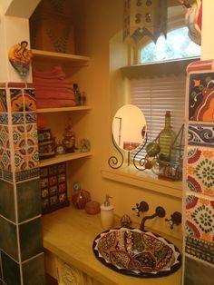 Resultado de imagen para decoracion de ba os rusticos for Banos rusticos mexicanos