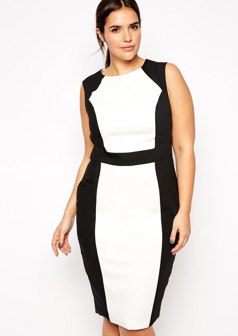 Casual White Work Dress With Black Side Work Dresses Pinterest