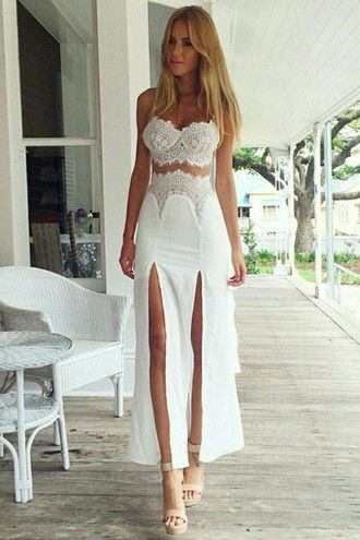 416636f61fb skirt lace white white dress outfit boho bohemian boho chic tumblr hippie  tank top dress summer zaful girl girly cute boho dress summer dress beach  lace ...