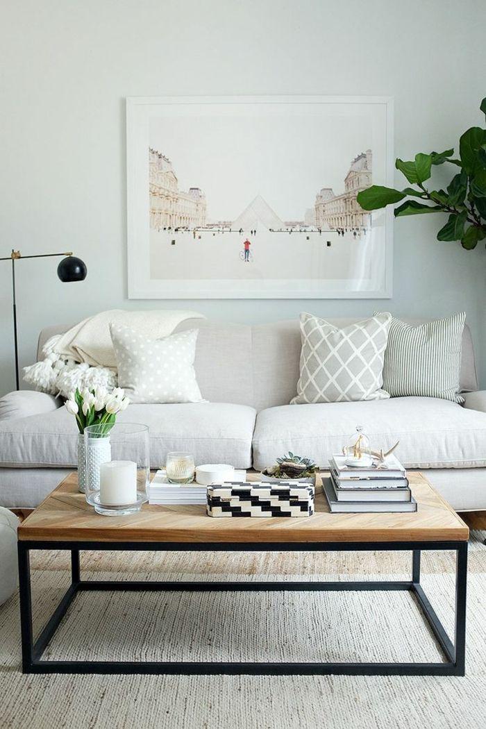 1001 ideas sobre decoraci n de salones para espacios - Sofas para salones pequenos ...