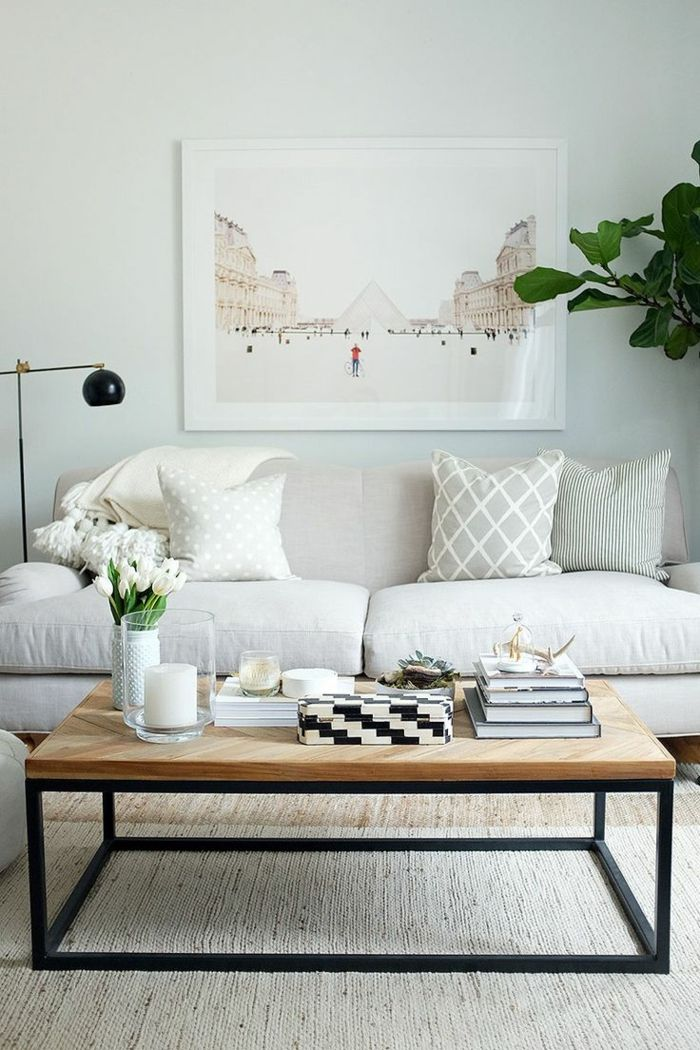 1001 ideas sobre decoraci n de salones para espacios for Decoracion de salon comedor pequeno
