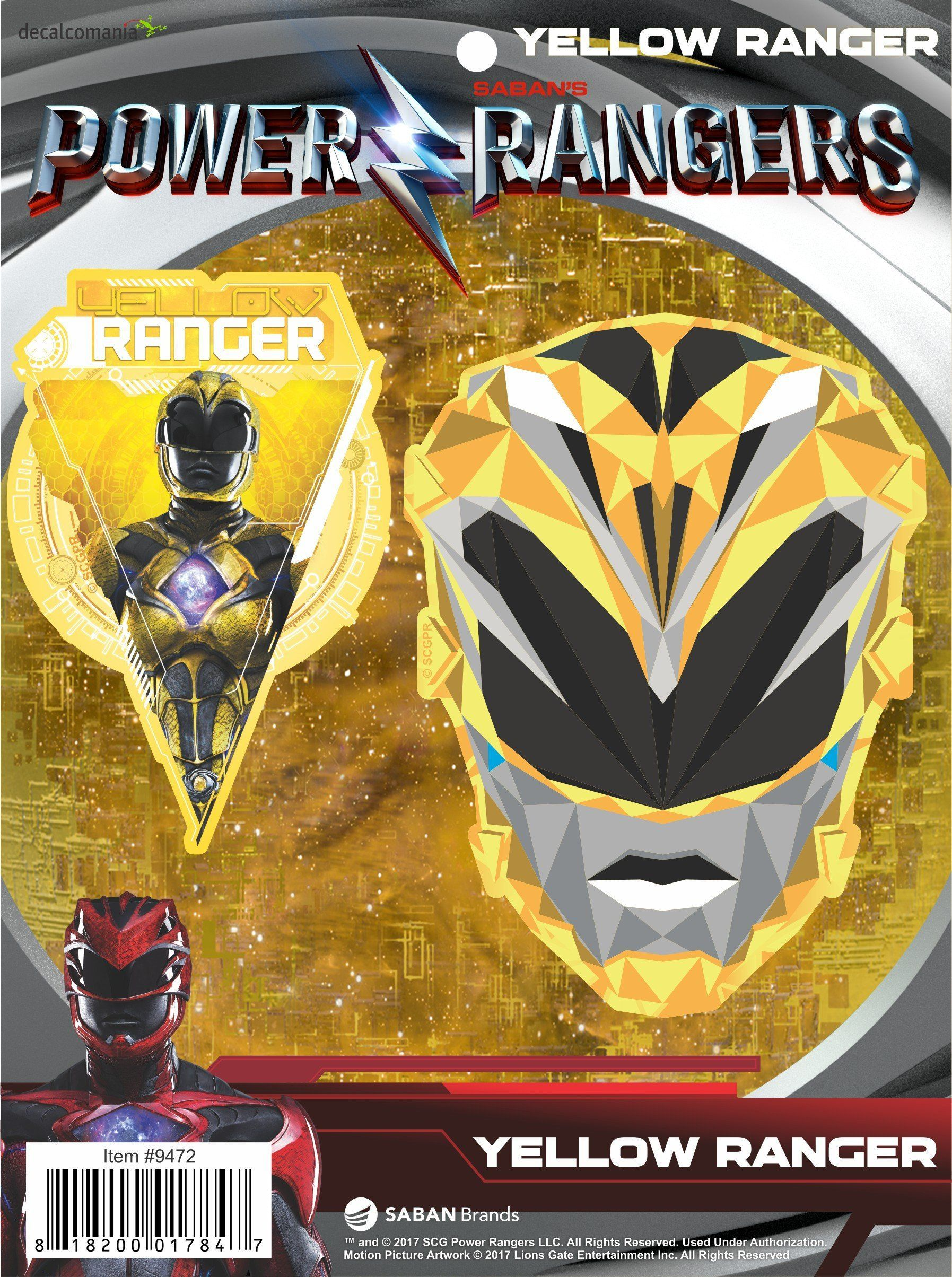 Power Rangers Movie Yellow Ranger Decal Car Sticker | Pinterest ...