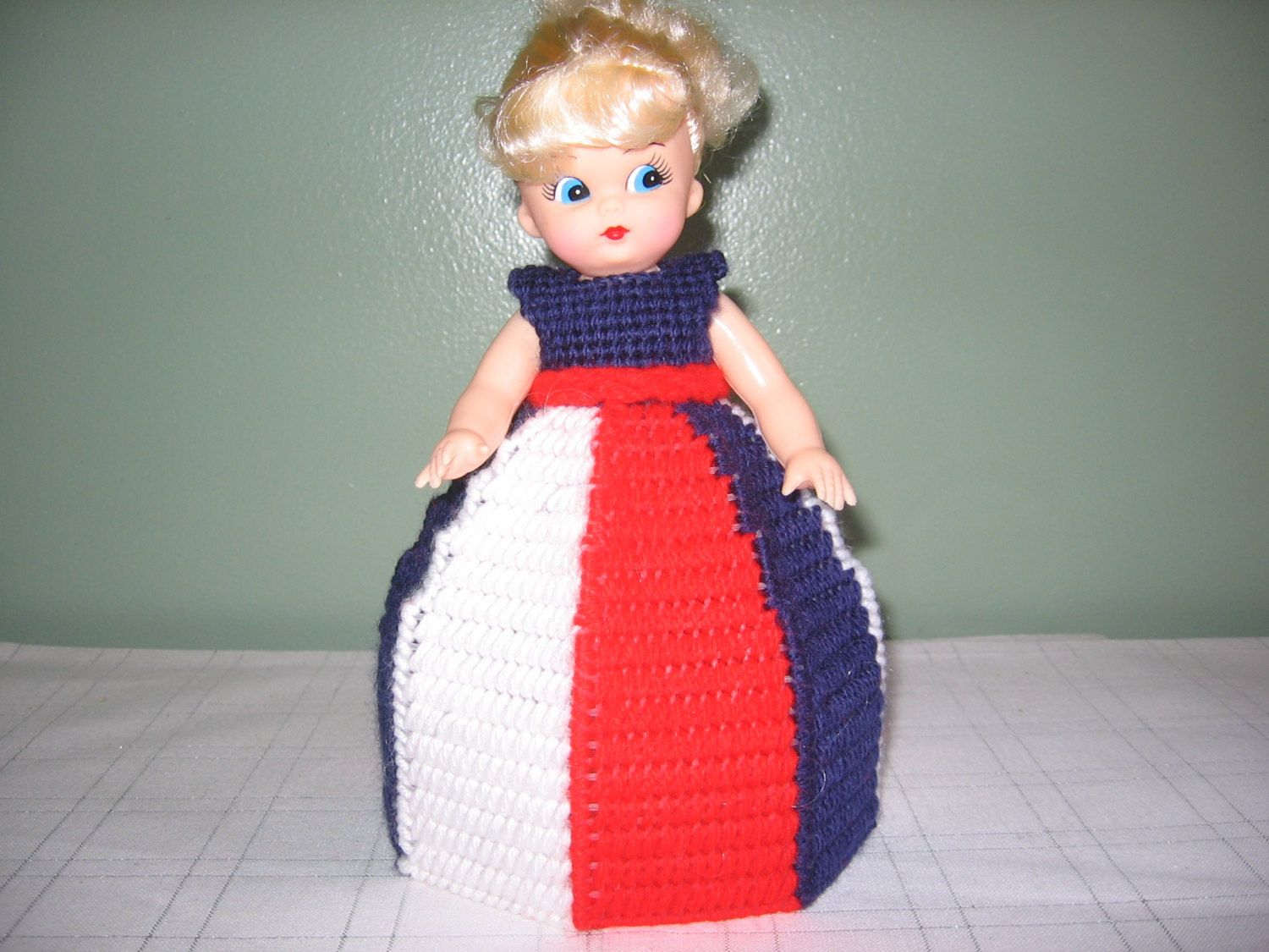 Red/White/Blue Collectible Doll - use for decoration or air freshner doll by CreationsbyAMJ on Etsy #airfreshnerdolls