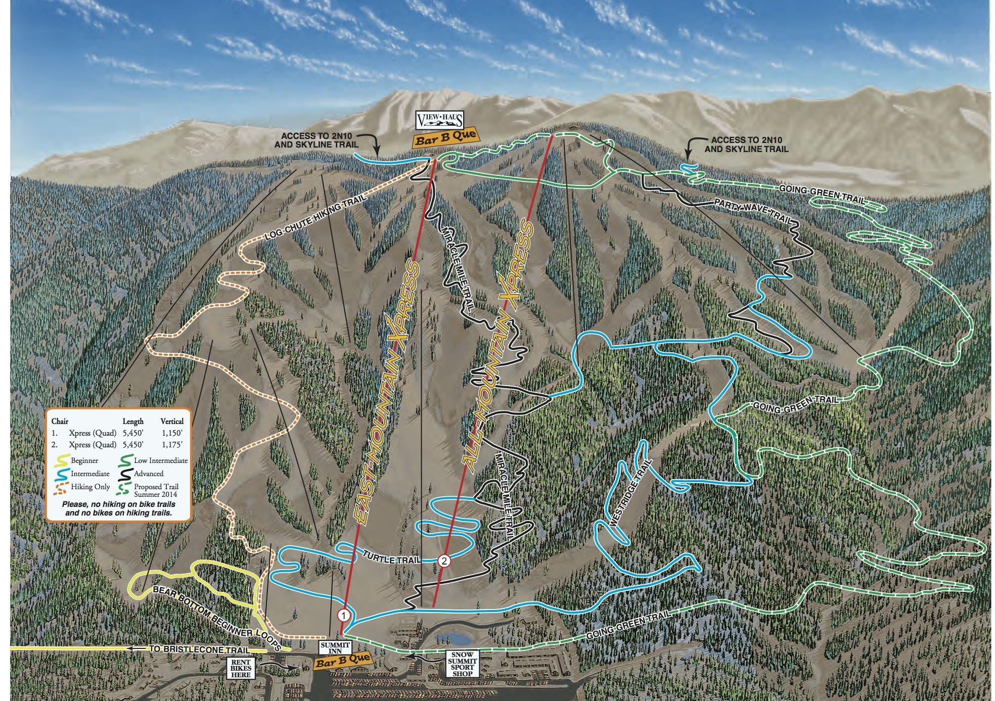Snow Summit Summer Bike Park Hiking Recreation Mountain