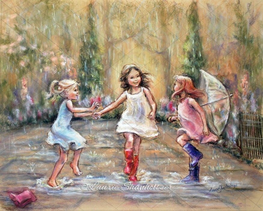 Dancing In The Rain Wall Art