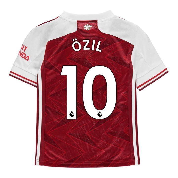 adidas Arsenal Mesut Ozil Home Shirt 2020 2021 Junior - Red 11-12 (L)