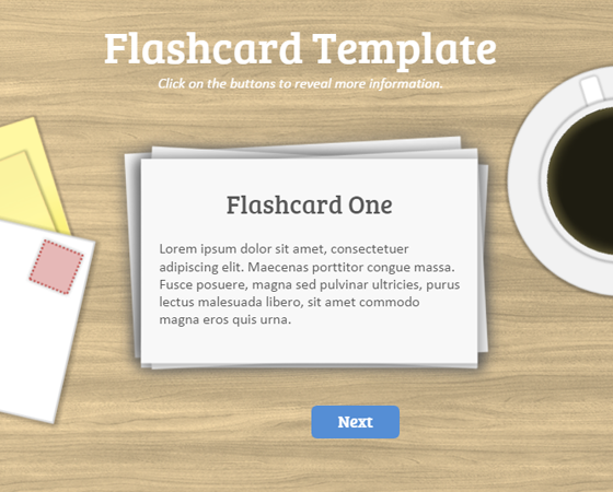 This Simple Flashcard Template For Powerpoint Is Easily Updated By