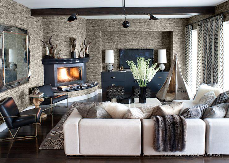 Jeff Andrews Design living rooms celebrity living room modular