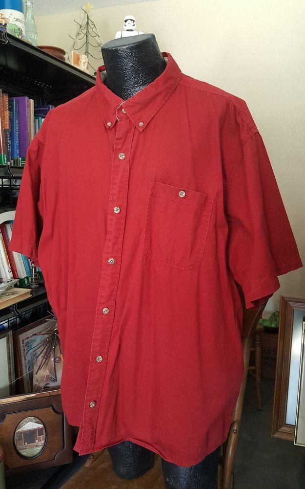9d627bed1484 Big & Tall REDHEAD Mens Shirt 3XL Red Chest Pocket Button Up Short Sleeve  Shirt #RedHead #ButtonFront