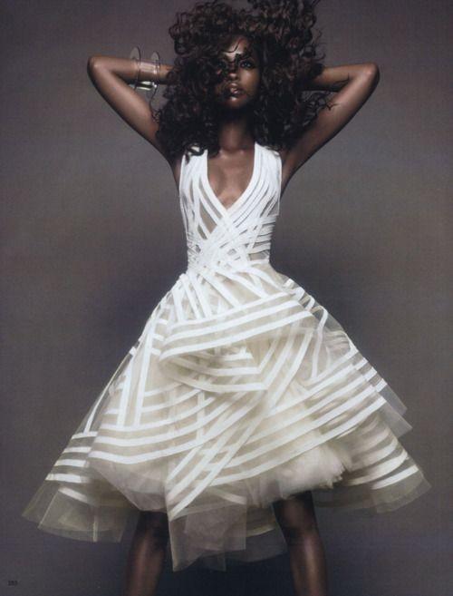 """Movement and Shape"" (+)   Vogue Japan, November 2011  photographer: Sølve Sundsbø   Nyasha Matonhodze"