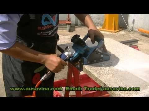 Air Polishing Machine M1 Apm80 M1 Ausavina Air Edge Polishing Machine For Stone Granite Marble Youtube Granite Marble Stone Slab