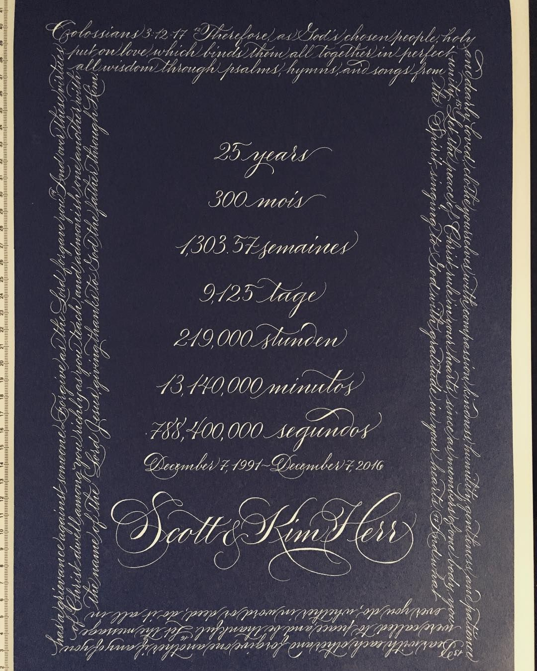 Studiofrenchblue 25th Wedding Anniversary Gift The Border Is