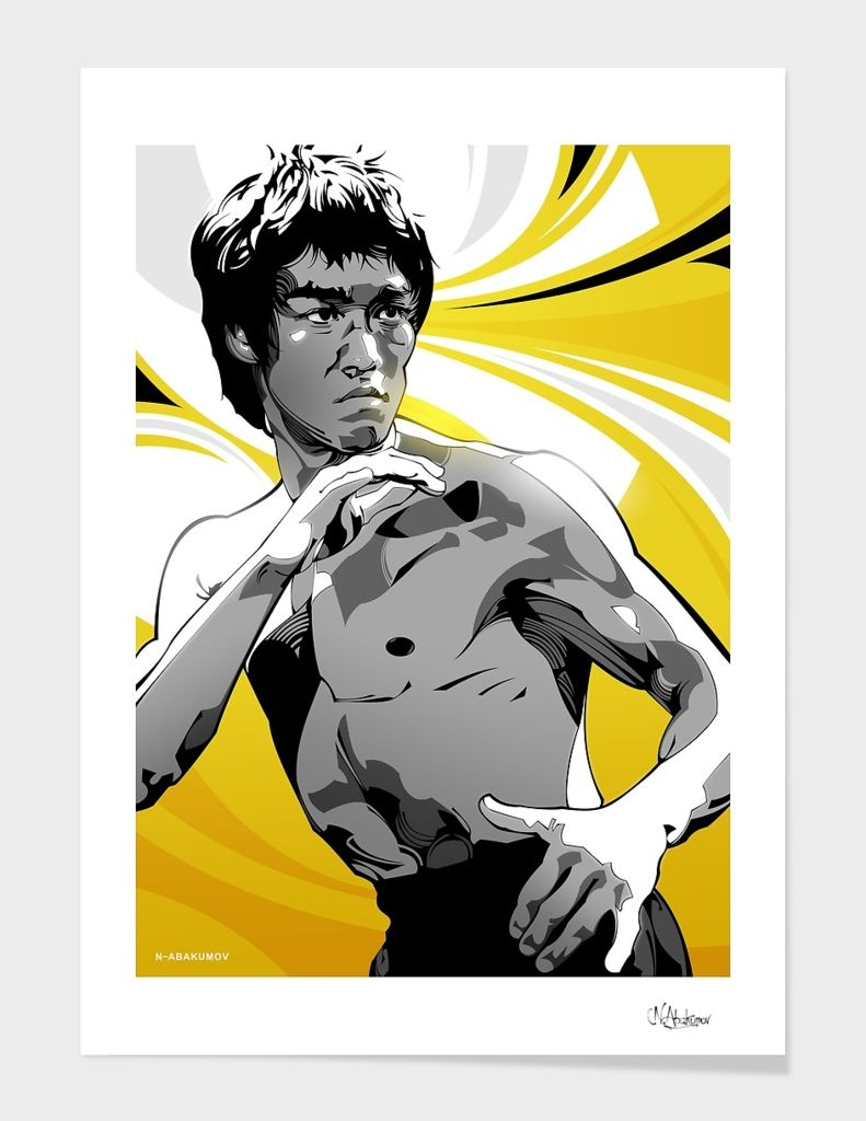 Bruce Lee Art Print By Nikita Abakumov Numbered Edition From 24 9 Curioos Bruce Lee Art Bruce Lee Canvas Prints
