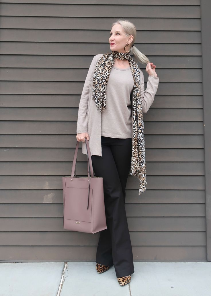 Taupe sweater set, sweater set with long cardigan, classic style over 40, classic style over 50, wea