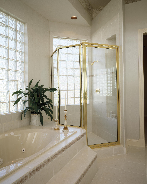Gold Framed Shower Door Httpsourceabl Pinterest Shower