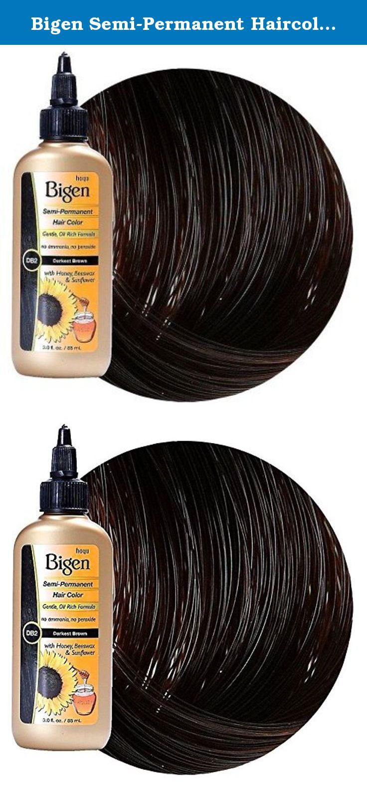 Bigen Semi Permanent Haircolor Db2 Darkest Brown 3oz 2 Pack