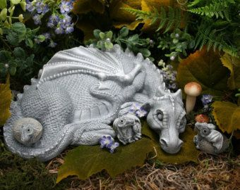 Baby Dragon Statue Bella On A Flower Ball By PhenomeGNOME On Etsy