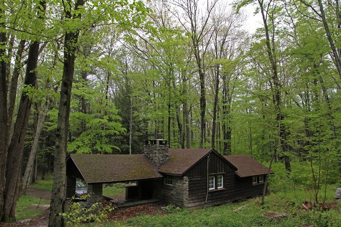 A cabin in Promised Land State Park, belonging to Seth