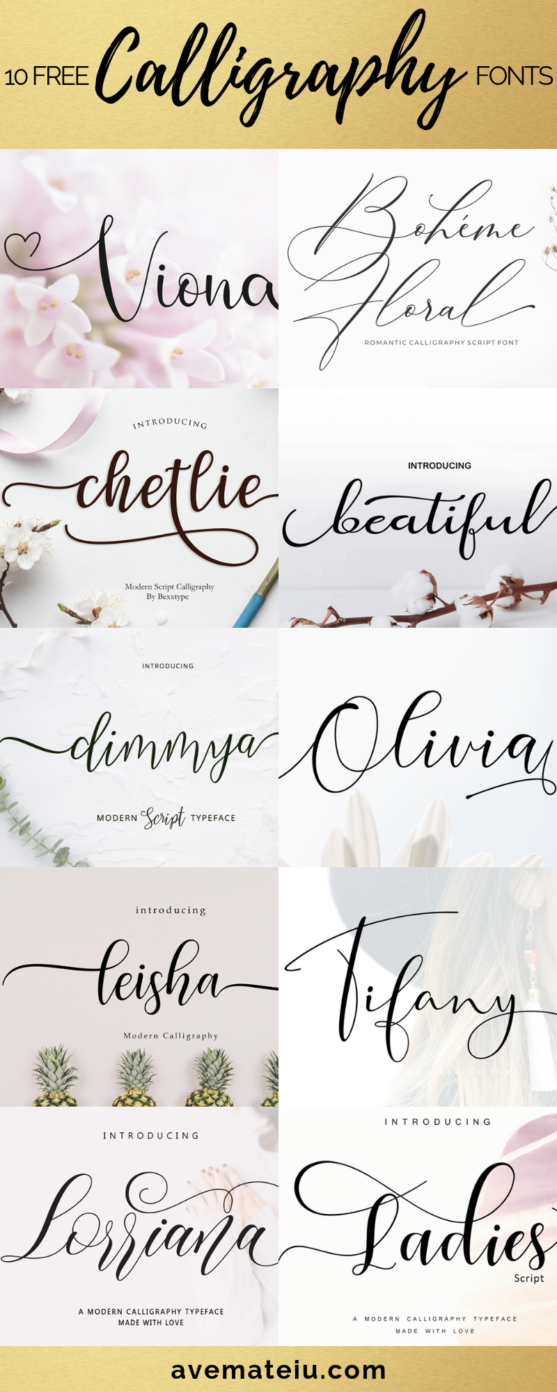 10 New FREE Beautiful Calligraphy Fonts Part 3 Tattoo
