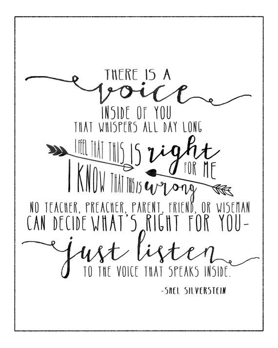 The Voice by Shel Silverstein. 8x10 and 5x7 prints. #art #