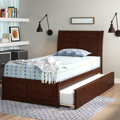 Viv Rae Wasilewski Sleigh Bed With Trundle Bed Frame Color Espresso Size Full Trundle Bed Mattress Platform Bed With Drawers Bed