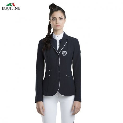 Equiline Billy Competition Jacket - Navy, £232. We love the white piping detail on this fashionable, modern show jacket