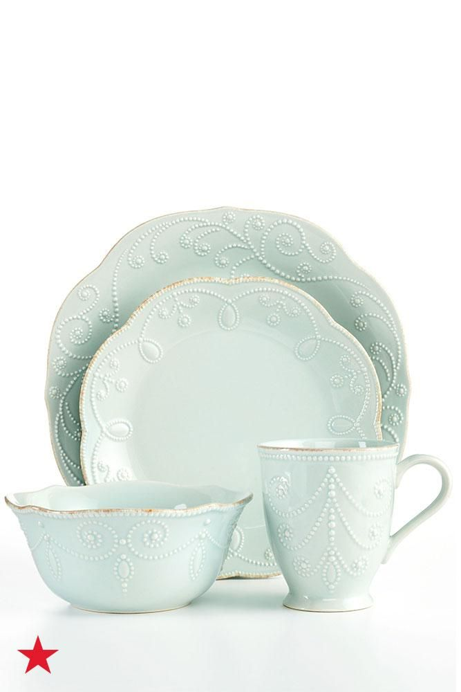 Lenox French Perle 12 Pc Set Service For 4 Reviews Dinnerware Dining Macy S Dinnerware French Farmhouse Dinnerware Blue Dinnerware
