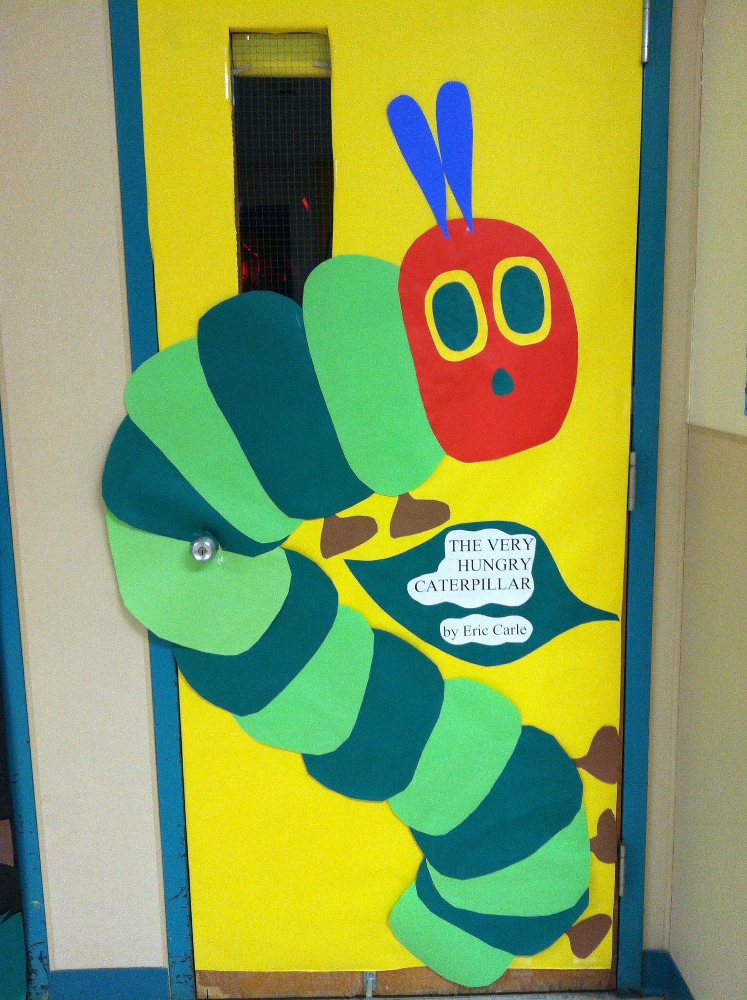 Classroom Ideas For World Book Day ~ My classroom door for literacy week each kinder class