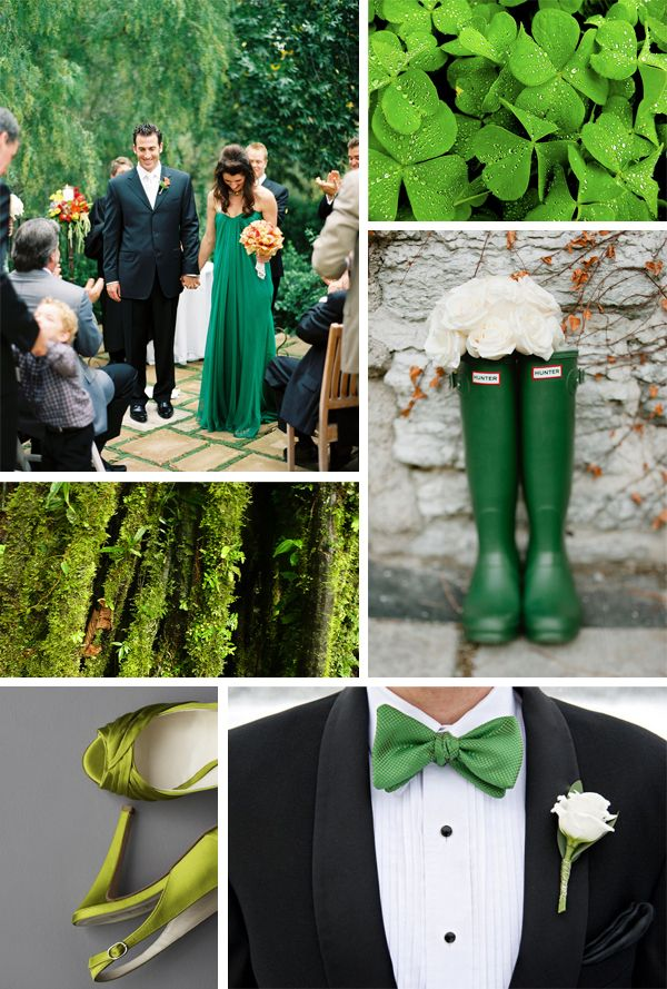 Luck of the Irish: 40 Shades of Green Inspiration Board...too bad I couldn't get married on St. Patrick's day! Need Irish traditional music on your wedding day? irishtradmusic@sbcglobal.net