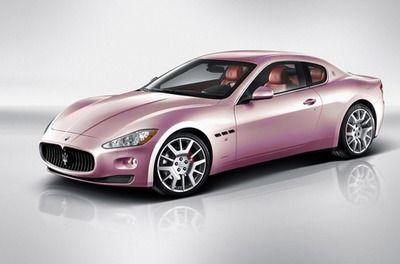 Pink Maserati... Definitely want this one.