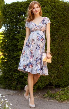 Alessandra Maternity Dress Short Vintage Bloom – Maternity Wedding Dresses, Evening Wear and Party Clothes by Tiffany Rose