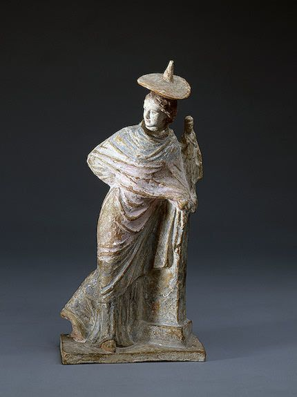 Girl by the Statuette of Aphrodite ,   3th century BC